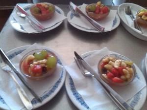 Dezert s ovocem a Tofu